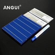 Panneau solaire bricolage cellules solaires Module photovoltaïque polycristallin contrôleur de bricolage chargeur de batterie solaire Sunpower C60 5 6 pouces voiture