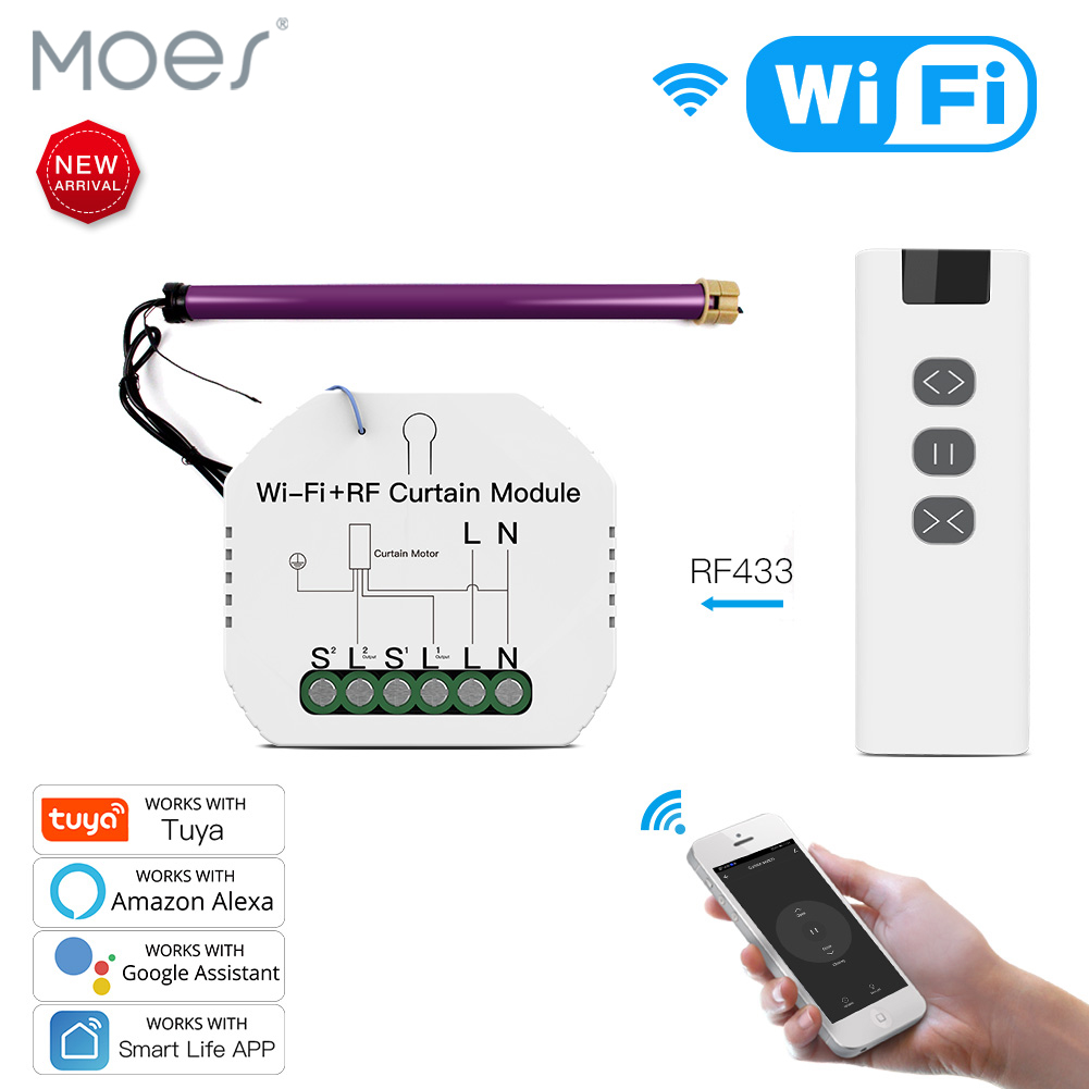 WiFi RF умный занавес модуль переключатель для электрического рольставни мотор туя беспроводной пульт дистанционного управления работа с Alexa ...