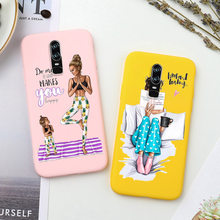 Candy Color Case For Oneplus 7 Pro 7 6 6T Case Fashion Super Mom Baby Girl Case For oneplus One Plus 7pro 6 T Phone Capa Etui(China)