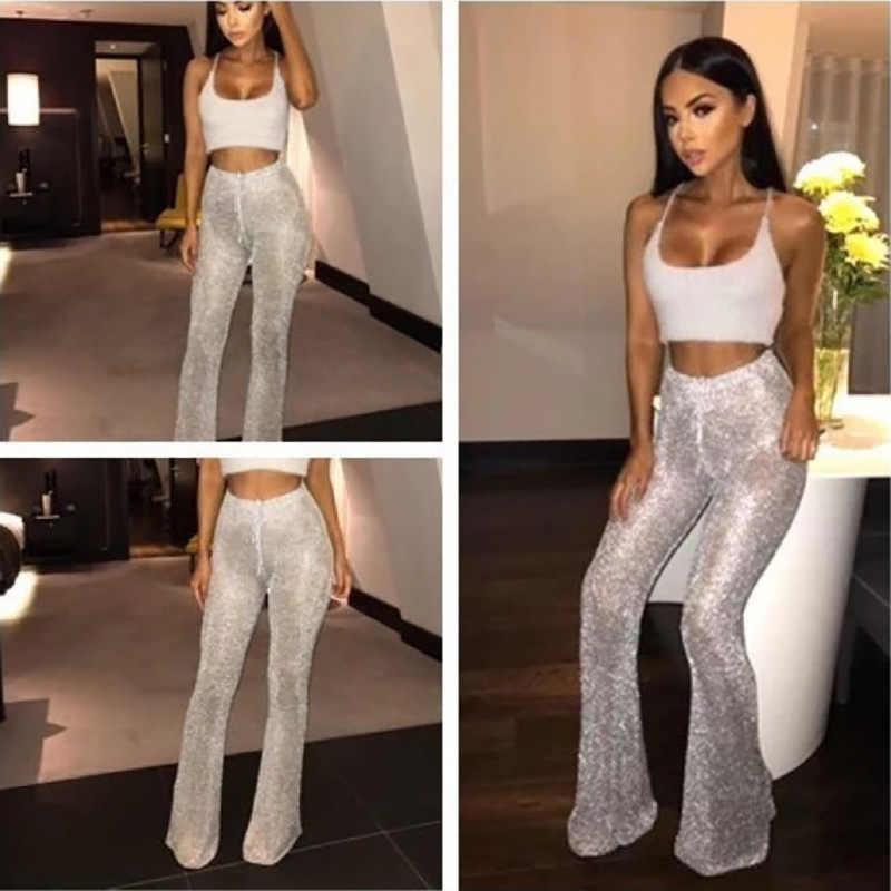 Sıcak satış düz vana günlük pantolon seksi kılıf çekme tığ çan alt pantolon kadın
