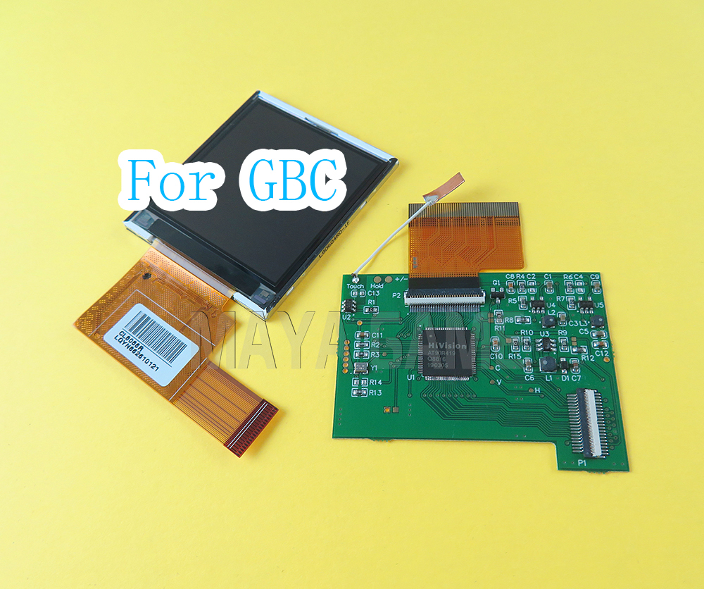 For Nintend GBC LCD Screen Modification Kit Replacement High Light LCDs Adjustable Brightness 5 Segments Accessories