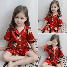 Summer girls pajama set boys sleepwear kids nightwear baby h