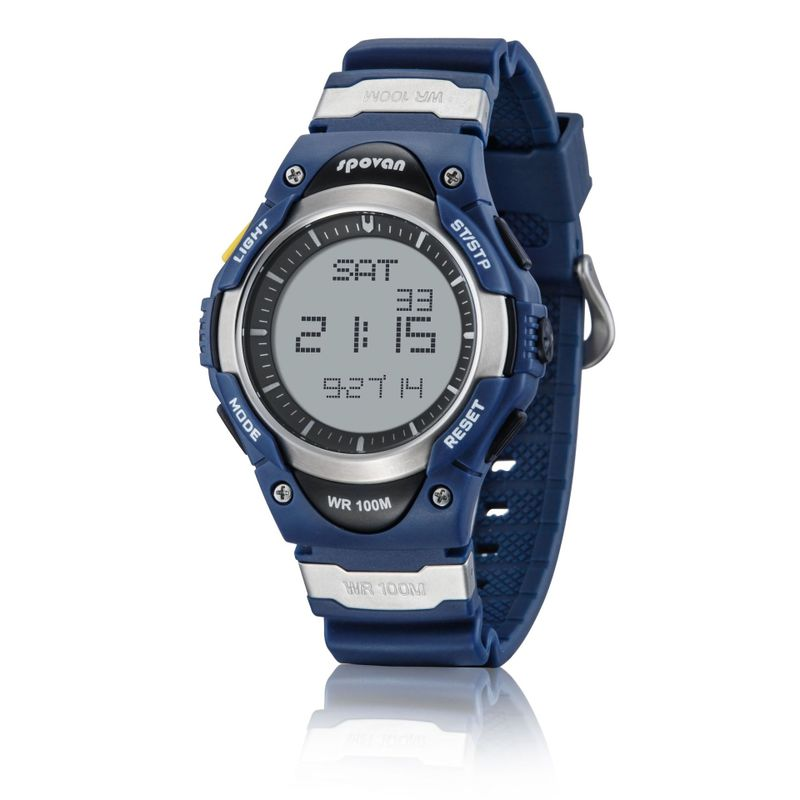 Swimming Sports Waterproof Electronic Watch Intelligent Wearing Time Alarm Clock Multi-functional Silicone Watch