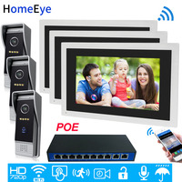 720P HD WiFi IP Video Door Phone Video Intercom 10''Touch Screen 3 3 Security Access Control System Mobile App Remote Unlock POE