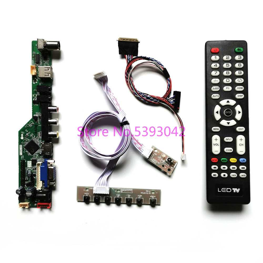 Kit for B154EW04 V.B VB LCD LEDscreen Controller Driver Board HDMI+VGA+AV+USB+TV