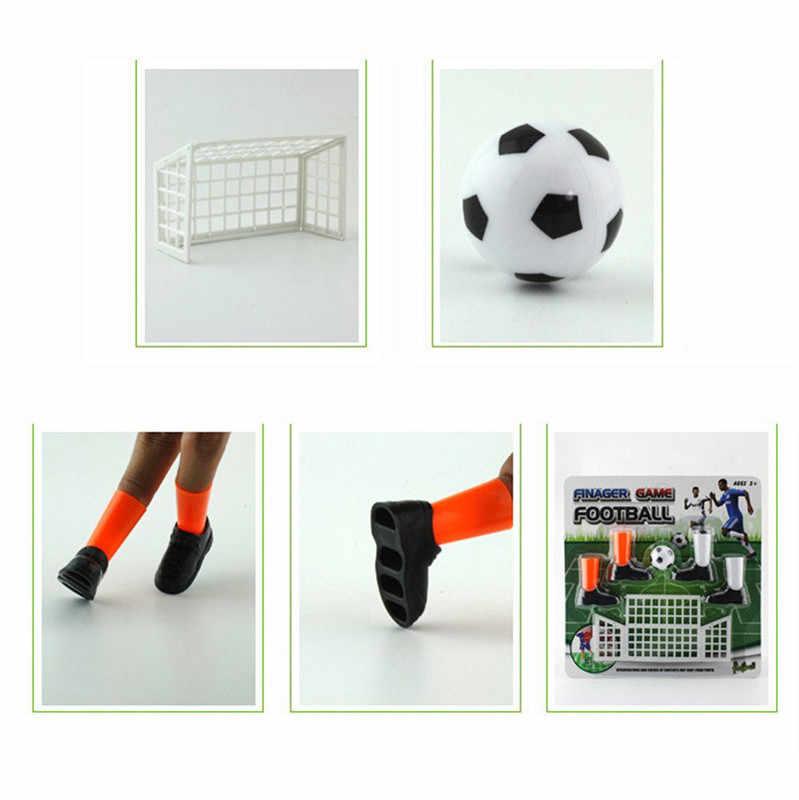 Party Mini Voetbal Spel Vinger Speelgoed Voetbal Match Grappig Tafel Game Set Met Twee Doelen Communiceren Kids Ouder Nieuwigheid Speelgoed
