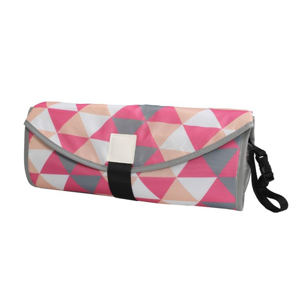 Новые 3 в 1 Водонепроницаемый пеленальный коврик пеленки мнчества, Портативный чехол для детских подгузников коврик чистой ручной складной сумка из узорчатой ткани - Цвет: CPD059