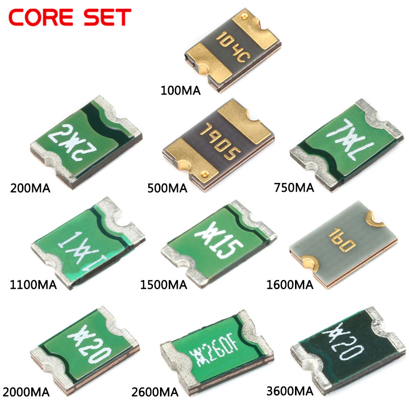 uxcell Resettable SMD Fuse 1812 Surface Mount Chip 24V 1.5A 10pcs