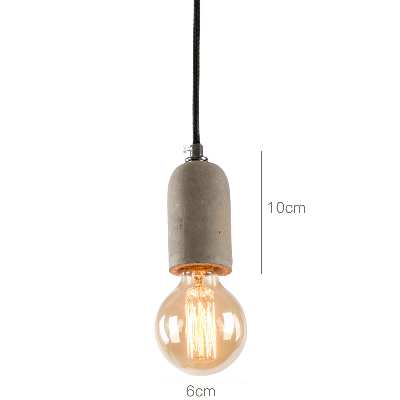 CAMIY Mini Industrical Concrete Lamp Holder Hanging Lights With E27 Light Socket ,Cement Lights For Kitchken, Room Lights