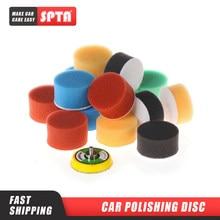 Spta 2 polegadas (50mm) esponja de disco de polimento de carro, esponja plana para polimento de carro, disco de polimento autoadesivo, 20 peças