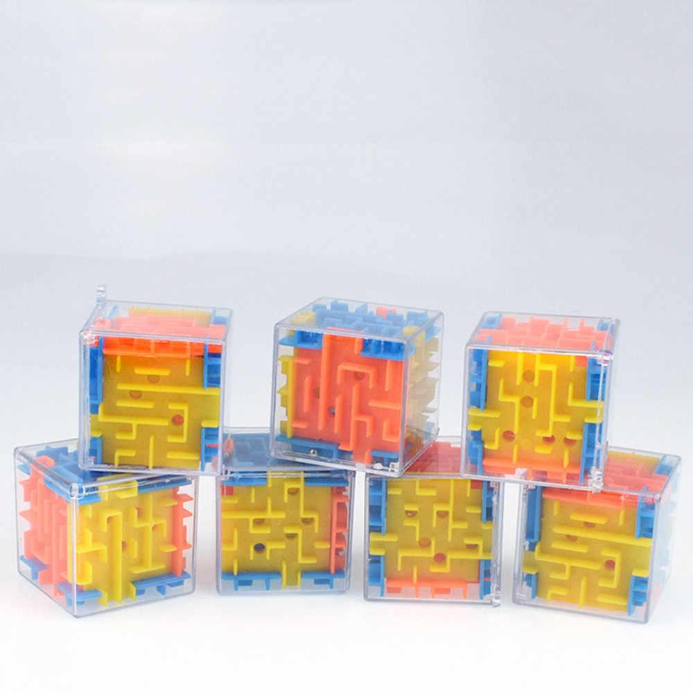 رائجة البيع ثلاثية الأبعاد أُحجية مكعبات لعبة المتاهة اليد لعبة صندوق صندوق متعة الدماغ لعبة التحدي اللعب التوازن ألعاب تعليمية للأطفال