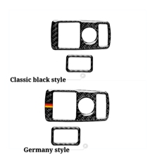 цена на Car Door Buttons Panel Carbon Fiber Auto Stickers Covers For Mercedes Benz A/B/C/E Class GLE GLA ML GL Accessories