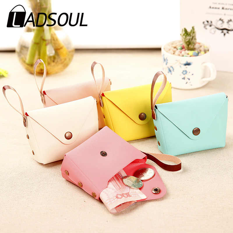 LADSOUL Korean Cute Candy-colored Small Coin Purse Ladies Mini Bags Key Case Creative Macaron Clutch Women's Wallet