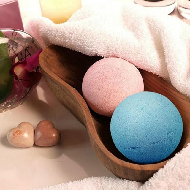 6 Pcs Organic Bath Bombs Bubble Bath Salts Ball Essential Oil Handmade SPA Stress Relief Exfoliating Mint Lavender Rose Flavor 2