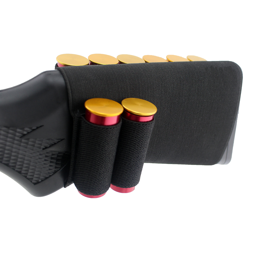 Hunting 12GA 12 Gauge Rifle 8 Round Airsoft Shells Ammo Shotgun  Ammo Shells Stock Bullet Pouch Buttstock Cartridge Holde