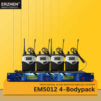 EM5012 In Ear Monitor Wireless System SR2050 Double transmitter Monitoring 4 bodypack Professional for studio Stage Performance