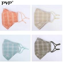 1Pcs Fashion Lattice Mask Dust Anti Pollution PM2.5 Activated Carbon Filter Insert Reusable Pollen Cotton Mouth