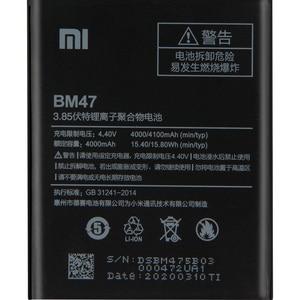 Image 5 - XiaomiオリジナルバッテリーBM47 xiaomi redmi 3 3s 3X 4X Redmi3 プロredriceコリア 100% 新しい本物電話バッテリー 4000mah