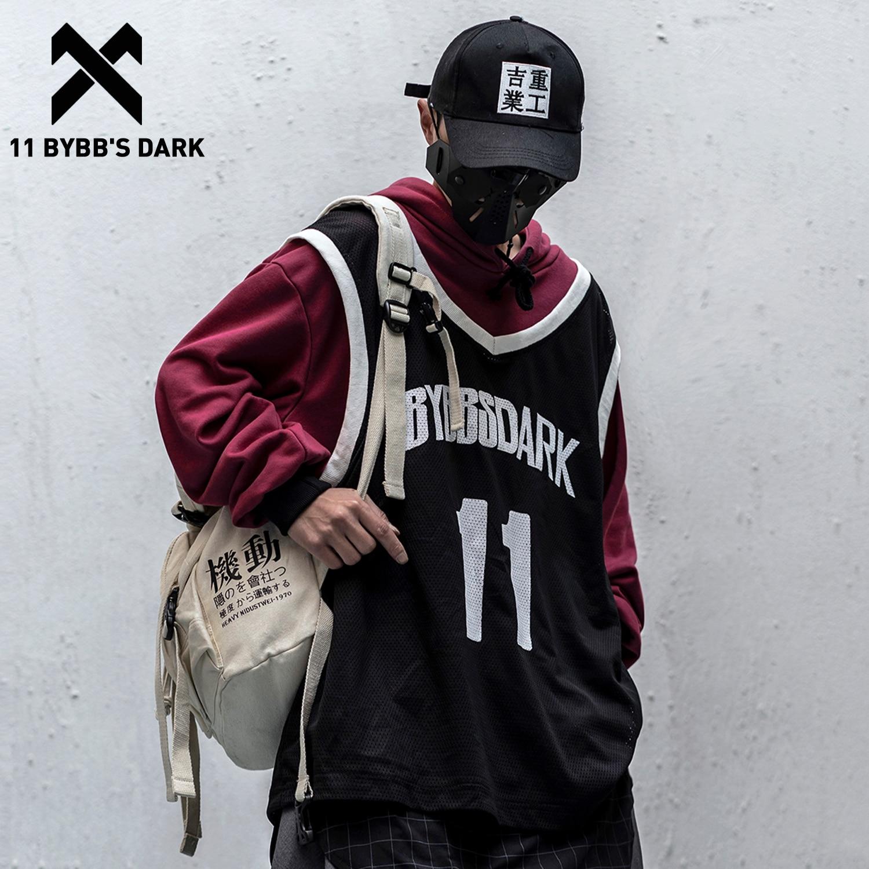 11 BYBB'S DARK Patchwork Fake Two Piece Hip Hop Sweatshirts Men 2020 Fashion Techwear Hoodies Pullover Streetwear Casual Hoodie