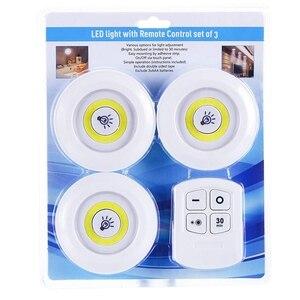 Image 5 - Yeni kısılabilir LED dolap altı ışığı ile uzaktan kumanda pili kumandalı LED dolap ışıkları dolap banyo aydınlatma