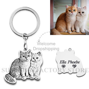 Image 4 - Pet Custom Keychain Necklace Personalized Jewelry 925 Sterling Silver Necklaces for Women Men Jewelry Memorial Gift