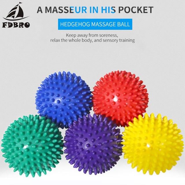 FDBRO Per Il Fitness PVC Mano Sfera di Massaggio PVC Suole Hedgehog Sensoriale Formazione Afferrare la Palla Portatile Fisioterapia Palla 6.5 Libera La Nave 1