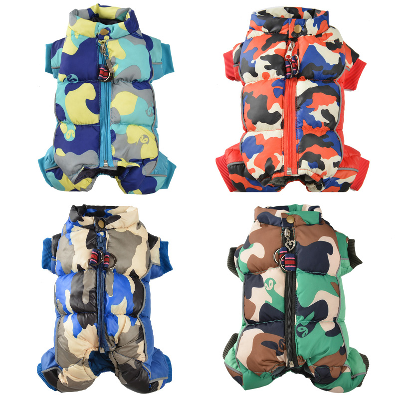 Reflective and Warm Dog Jacket and Waterproof Winter Dog Clothing with Strong Zipper and D-Ring 7