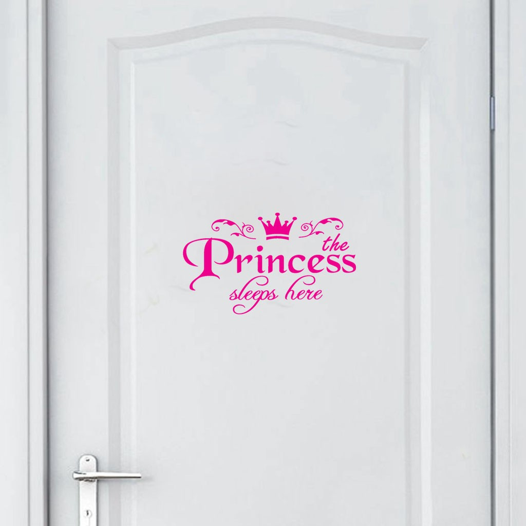 1 Pcs Princess Home Decor Wall Sticker Decal Kids Bedroom Door Vinyl Art Mural Home Decoration Wall Stickers