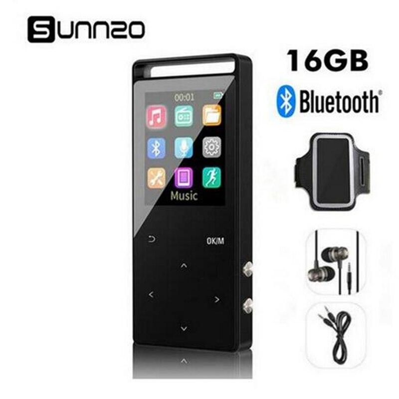 Распродажа Россия сток 16GB MP3 Player Bluetooth Digital Music Mini Portable Audio Player With FM Radio Pedometer