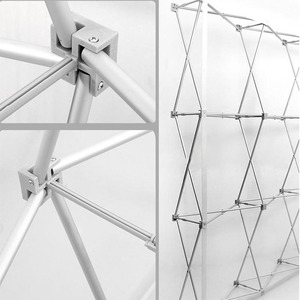 Image 5 - Hoge GradePortable Aluminium Bloem Vouwen Stand Wedding Achtergrond Stand Reclame Regendicht Display Handtekening Muur