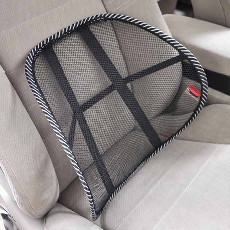 Car Seat Chair Back Support Massage Mesh Waist Cushion For Hyundai Solaris Elantra Sonata Tuscon I30 Auto Office Lumbar Cushion