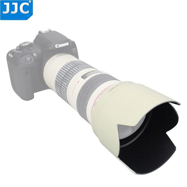 JJC Bajonet Zonnekap Shade voor CANON EF 70 200mm f/4L IS USM/EF 70  200mm f/4L USM vervang ET 74 vervangt ET 74