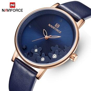 NAVIFORCE 5012 New Rhinestone Quartz Watches with box