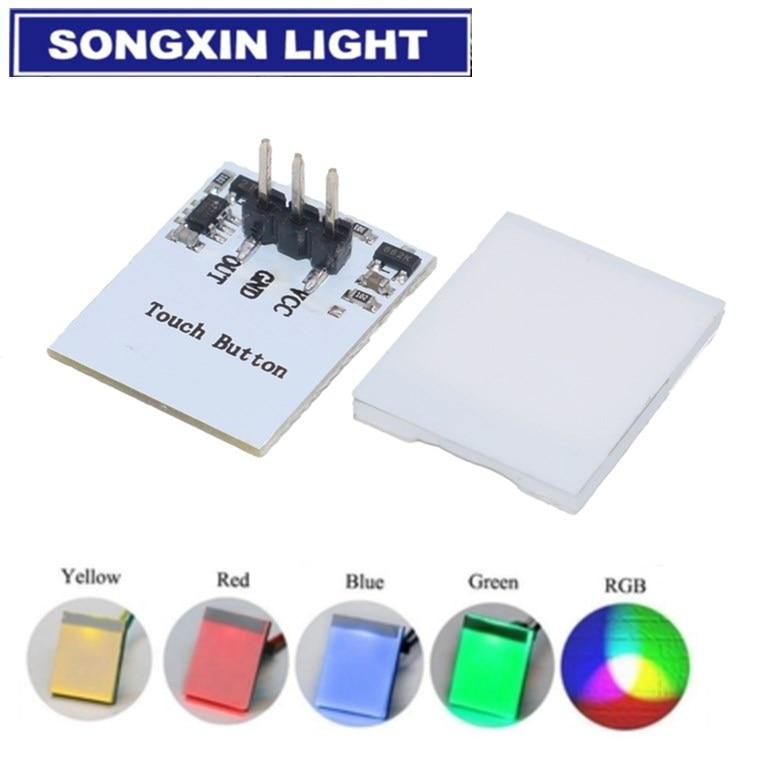 O módulo capacitivo 2.7 v do botão do interruptor de toque do rgb da cor vermelha e amarela azul verde a 6 v o módulo anti-jamming é a série forte de httm