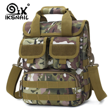IKSNAIL Men Military Tactical Sport Bag Molle Messenger Shou
