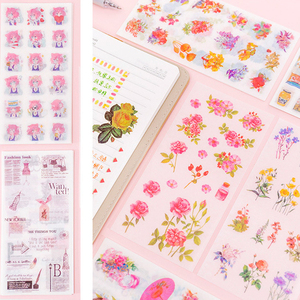 Image 4 - 20pack/lot Small fresh Flowers series Decorative Sticker for Diary Album Label DIY Scrapbooking Stickers Stationery