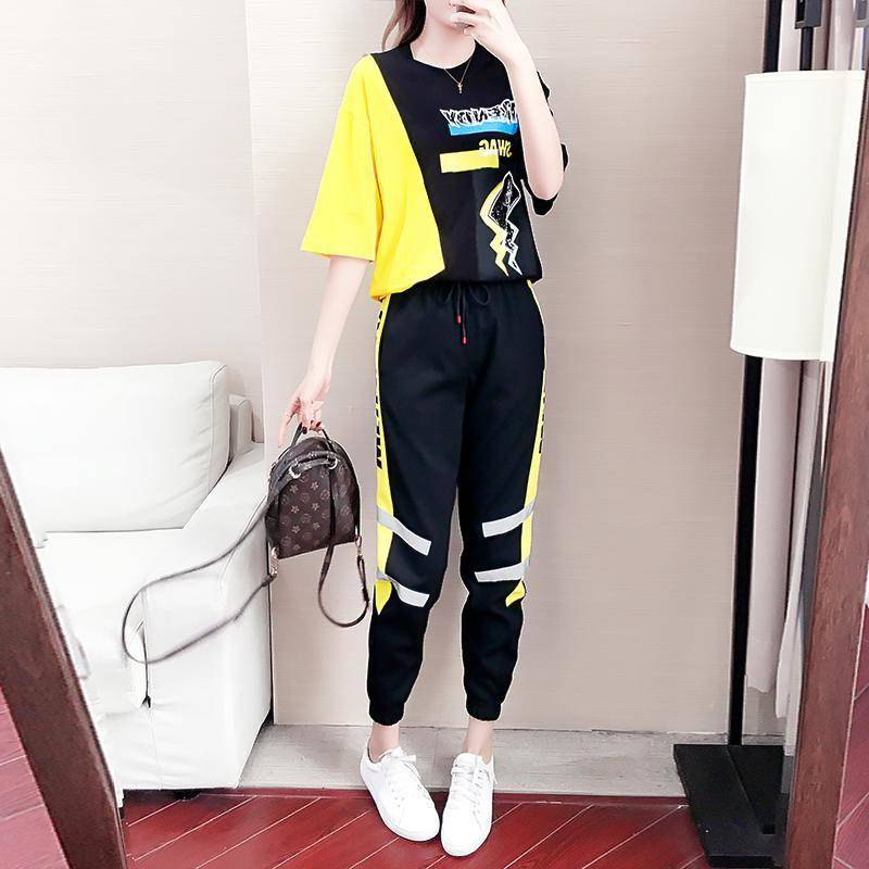2 Piece Sets Summer Clothes For Women Tracksuit  Womens Outfits Fashion Streetwear Shirt Lounge Wear Sweatsuit