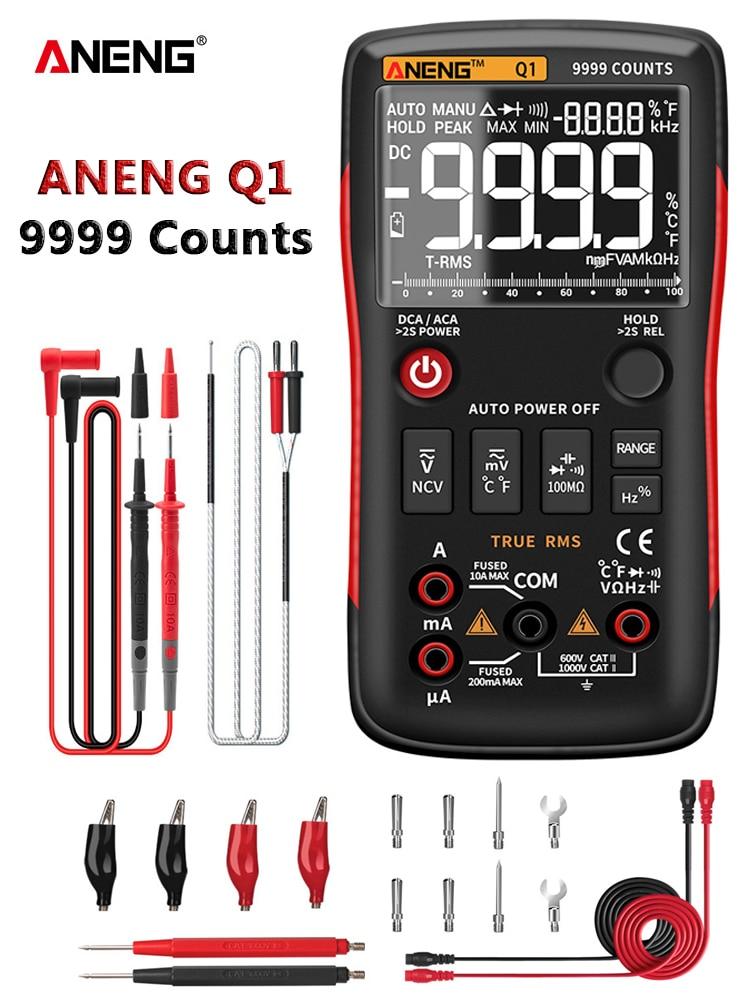 Digital Multimeter Testers Capacitor Transistor True Rms Professional ANENG 9999 NCV