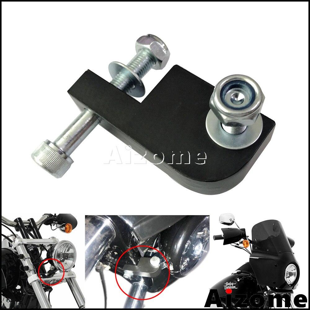 Черная фара, обтекатель 39-49 мм, вилка, кронштейн для переделки, удлинитель для Harley Dyna FXDL FXDF FXDB FXDWG
