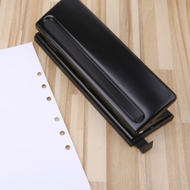 6 Hole Punch Paper Craft Cutter Adjustable DIY A4 A5 A6 Loose-Leaf Paper Puncher Scrapbooking Stationery Office Supplies