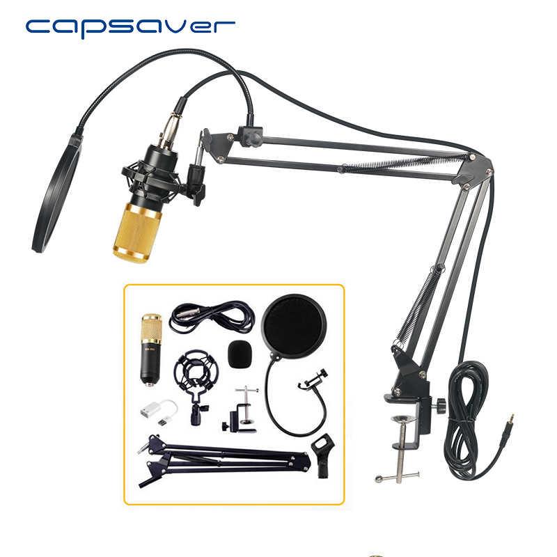 Capsaver профессиональный микрофон BM800 конденсаторный аудио KTV караоке микрофон вокальный Запись микрофон с держателем подставки