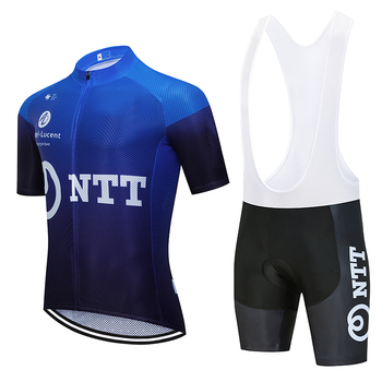 цена на Cycling Jersey 2020 TEAM DATA NTT Short Sleeve Bicycling Jersey 20D Shorts MTB Bicycle Clothing Ropa Ciclismo Maillot Bike Wear