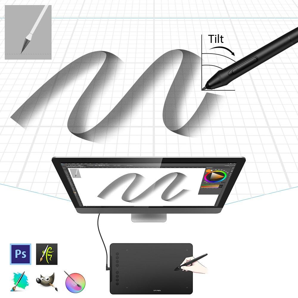 XP-stylo déco 01 V2 dessin tablette graphique numérique avec inclinaison pour Android et 8 touches de raccourci (8192 niveaux de pression) pour débutant - 3