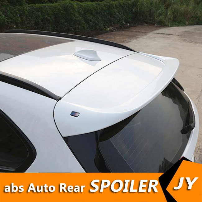 For BMW X1 F48 Spoiler 2017 2019 BMW 1 series hatchback ABS Material Car Rear Wing Primer Color Rear Spoiler For BMW X1 Spoiler|Spoilers & Wings| |  - title=
