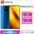 Глобальная версия POCO X3 NFC 6 ГБ 64 ГБ / 128 ГБ Смартфон Snapdragon 732G 8-ядерный процессор 64 Мп Четыре камеры 6,67