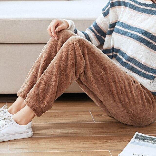 Heliar Underwear Thermal Winter Pants Women Elastic Outerwear Warm Velvet Trousers For Women Long Pants Woolen Loose Pants Women 3