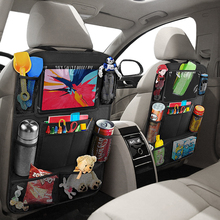Stowing Tidying Organizers Storage-Bag Car-Seat-Back Automobile-Back-Seat Black Collapsible