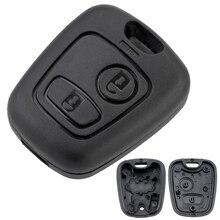 Чехол для автомобильного ключа с 2 кнопками чехол 307 для Citroen C1 / C2 / C3 / C4 / XSARA Picasso / Peugeot 307 / 107 / 207 / 407