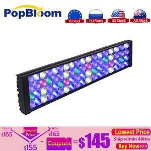 PopBloom аквариумная Светодиодная лампа для светодиодное освещение для рифа в аквариуме, аквариумная лампа с полным спектром, аквариумная ламп...