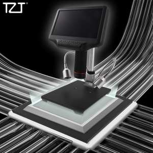 TZT Digital-Microscope AD407 Andonstar Adjustable for HDMI Stand-Monitor 7-Screen Leds